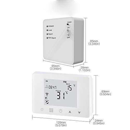 XIANG Thermostat, WiFi Smart-Thermostat Wand-Gas-Kessel Wasser Elektrisch Fußbodenheizung Temperaturregler Arbeiten Mit Alexa