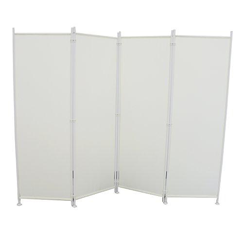 SAILUN® Stellwand 180x180cm/260x180cm Paravent Raumteiler Trennwand Sichtschutz (215cm x 170cm, Beige)