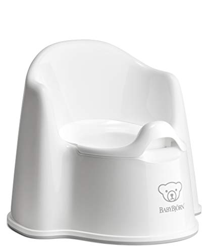 BabyBjörn 055221 BABYBJÖRN Topfstuhl, Weiß/Grau, mehrfarbig