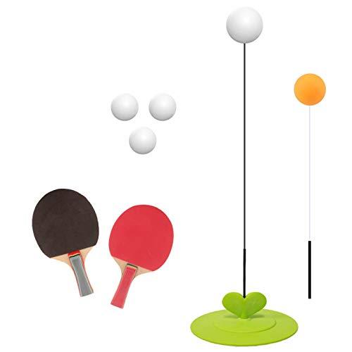 JIAODIE Elasticidad de Mesa Raquetas de Tenis, Formación Vent Bola Red de Rebote Conjunto, mitigador de Dobles Entrenador del Ping-Pong y el Ejercicio de visión Bolas basar la práctica Kid Conjunto
