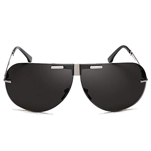 Hancoc Gafas UV400 Sin Marco, Plegables Y Polarizadas Gafas De Sol De Los Hombres Que Vuelan Gafas De Sol De Conducción Gafas