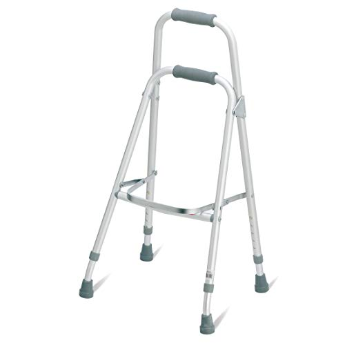 Carex Folding Hemi Walker - One Handed Walker for Seniors - Side Arm Style Walker