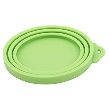 ZYYXB Pet Food Can Cover Chien Chat Silicone Universel Alimentaire Can Can Couvercles Couvertures pour Animaux Aliments en Conserve Couvercle Nourriture (Vert)
