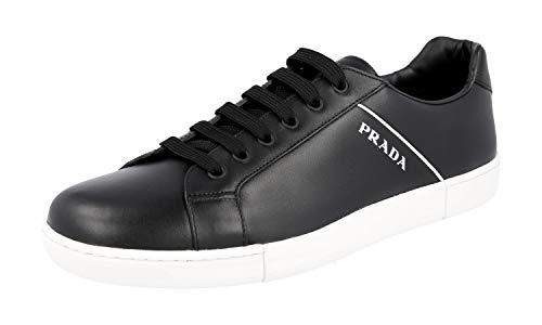 Prada Herren Schwarz Leder Sneaker 4E3340 6DT F0967 43 EU/UK 9