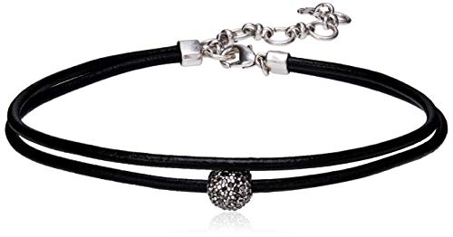 Lucky Brand Leather Choker Necklace, Silver, One Size