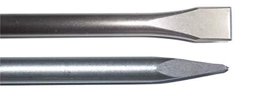 SDS MAX - Juego de cinceles (600 mm de largo, 25 x 600 mm)