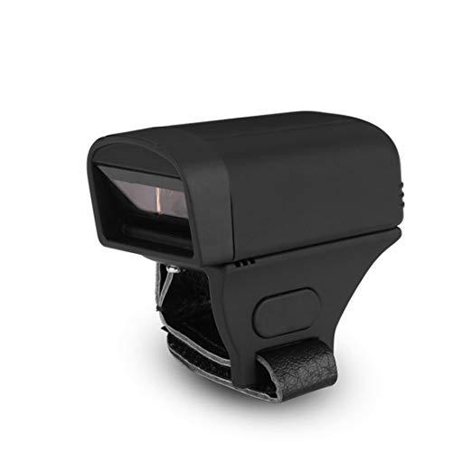 Barcode scanner portable 1D 2D doigt sans fil Bluetooth 4,0 & 2.4 G lecteur de code-barres sans fil compatible pour magasin supermarché entrepôt bibliothèque