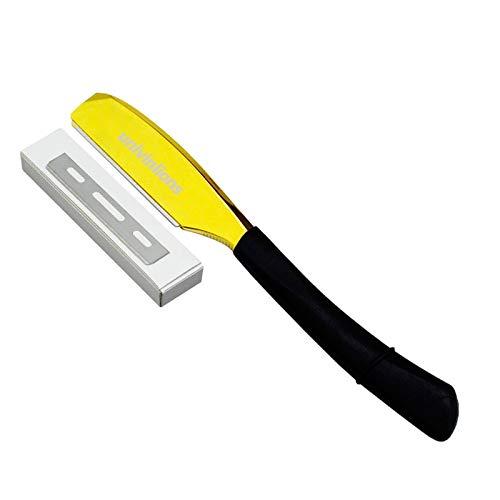 Univinlions Rasierfriseur Werkzeuge Rasiermesser Und Klingen Antik Schwarz Klapp Rasiermesser Edelstahl Rasiermesserhalter 1PCS Rasierer + 10 PCS Klinge