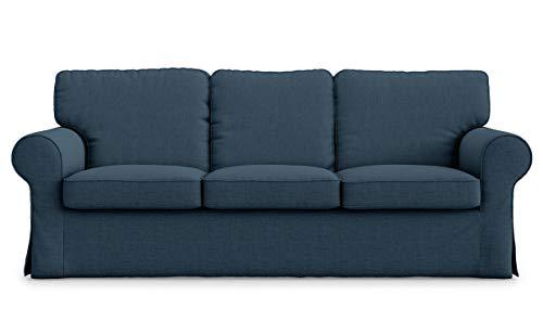 Copridivano a 3 posti in poliestere Ektorp di ricambio per divano a 3 posti Ikea Ektorp blu navy