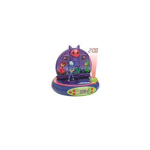 Lexibook PJ Masks Catboy Radio-Projektionswecke, Eingebautes Nachtlicht, Projektion der Zeit an der Decke, Soundeffekte, batteriebetrieben, Blau/Violett, RP500PJM