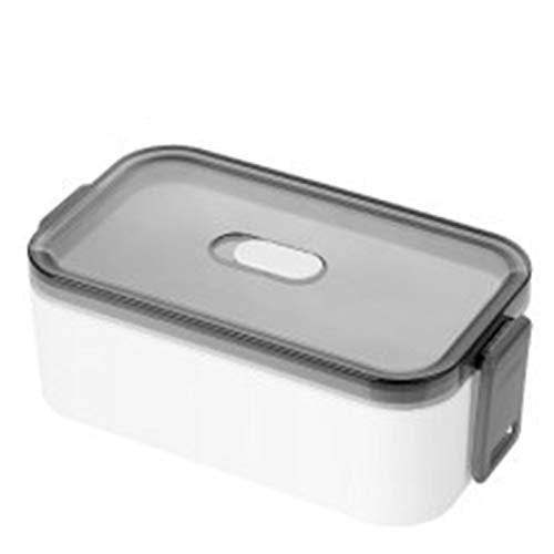 uerzo Fácil de limpiar caja japonesa Caja de almuerzo a prueba de fugas Contenedor de contenedores Compartimento Preparación Preparación Bento Box,Single layer