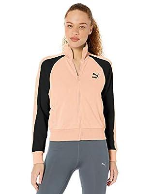 PUMA Women's Classics T7 Track Jacket, Peach Parfait, L
