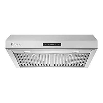 Empava 30 in. Kitchen 500 CFM Ducted Under Cabinet Range Hood with Soft Touch Controls-Sealed Aluminum Motor-Permanent Filters LEDs Light in, Stainless Steel