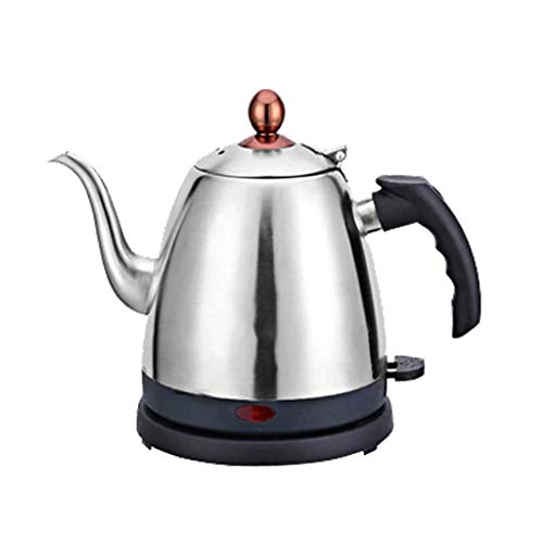 BUTTE Electric kettle, Stainless steel kettle 1000W rapid heating, Boil dry protection and 1.4L / 48 oz automatic shutdown