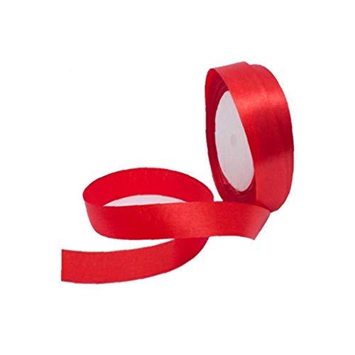 Uso de múltiples Manchas de la Cinta de la Cinta Rollo Suave Cara del Doble del Papel de Regalo DIY Curling Cinta de Regalo de la Cinta Wrap (Rojo)