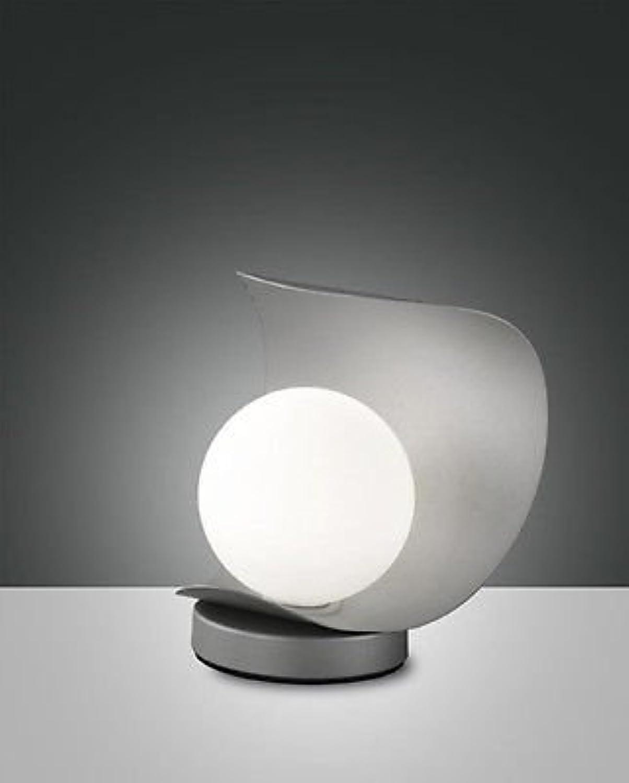 Fabas Luce 3414–30–137Tischleuchte Adria 6W 540LM Warm Weiß Silber Touch