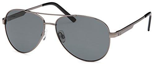 FEINTWIRN hoogwaardige pilotenbril zonnebril Vilanova met roestvrij stalen frame + brillen-hardcase