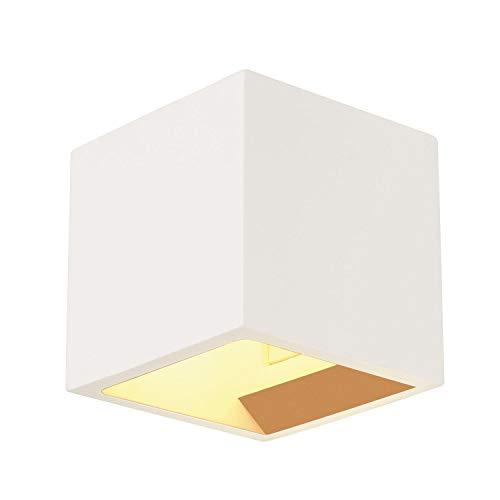SLV PLASTRA CUBE carré Applique murale, plâtre blanc, G9 42 W maximum 148018