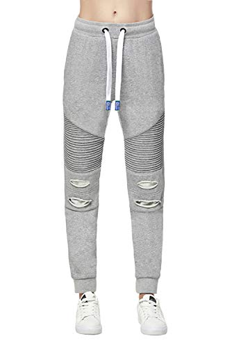 Extreme Pop Mujer Slim Joggers Ripped Tracksuit Bottoms UK Brand