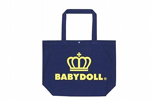 BABYDOLL(ベビードール) 王冠ロゴトートバッグ キッズ レディース Lサイズ ブラック×ラズベリー