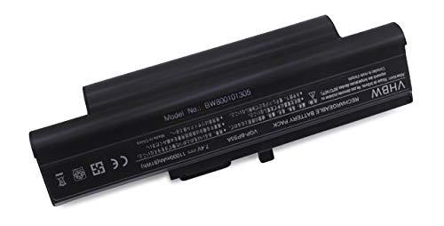 vhbw Batterie LI-ION 11000mAh 7.4V Noir Compatible pour Sony VAIO VGN-TX50B/B etc. remplace VGP-BPL5, VGP-BPL5A, VGP-BPS5, VGP-BPS5A