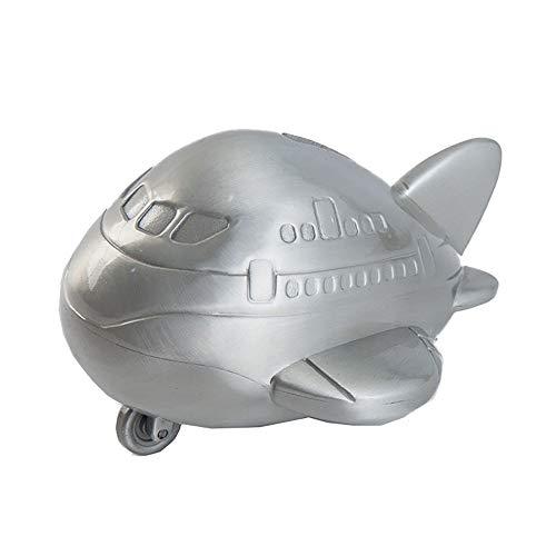 ZAKRLYB Niños Piggy Bank Desktop Crafts Zinc Aleación Moneda Avión Avión Piggy Bank Regalo Juguete Ahorre dinero Adulto Decoración Caja de tesoros Adecuado para Decoración del gabinete de TV de escrit