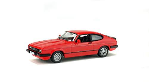 Solido Soldio S4301700 Ford Capri 2.8i, Baujahr 1981, Modellauto, 1:43, rot