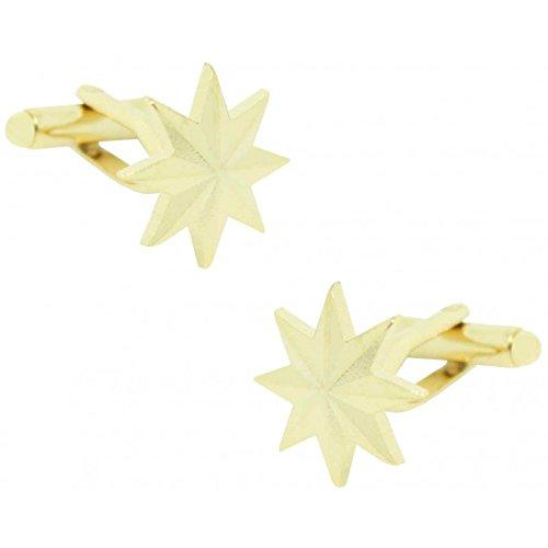 MasGemelos - Gemelos Estrella Militar 8 Puntas Cufflinks