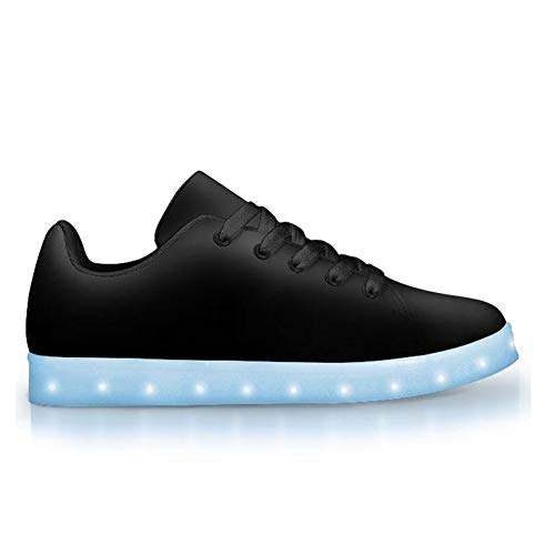 Electric Styles - LED Light Up Low Top Sneakers, App-Controlled Adult Tennis Shoes ((11 Women) (8.5 Men) (EU36), Black Out)