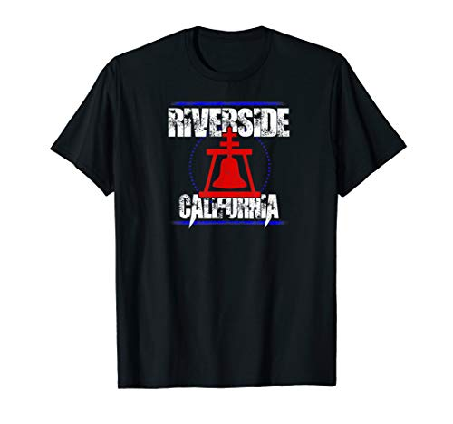 Riverside California rock design with raincross bell T-Shirt