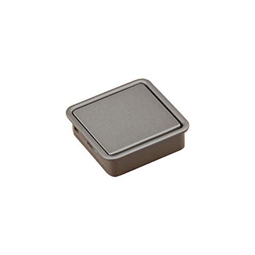 Einzelnes Loch (schwarz), Unkomplizierte Kleiderschrank Schlitz Scratch Griff verdecktem Einbau-Schublade Invisible Griff Zuhause (Color : Grey)