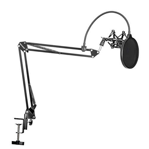 NBSXR Microfoon Suspensie Arm Schaar Arm met Microfoon Klem, Pop-up Filter Voorruit Maskerschild, Microfoon Shock Mount Kit