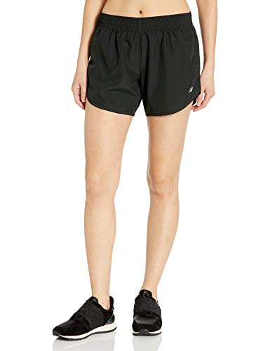New Balance Women's Accelerate 5-Inch Shorts, Black, Large