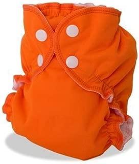 AppleCheeks Envelope Cloth Diaper Cover, Orange You Glad, Size 1 (7-20 lbs)