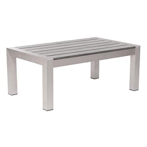 Cosmopolitan Coffee Table Brushed Aluminum