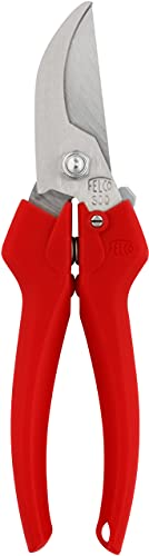 FELCO 11510037 11510037-Tijera de Vendimia Hoja Curva hasta 10 mm 300, Silver/Red, 35x15x5 cm