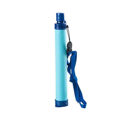 Membrane Solutions Personal Water Filter, Portable Water Filter Filtration Straw Purifier Survival Gear for Hiking, Camping, Travel, and Emergency, Blue