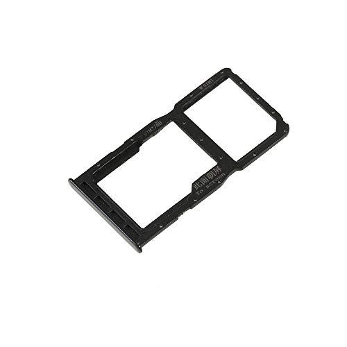 COMPATIBILE PER Huawei P30 Lite MAR-LX2 2019 Try tray Vassoio (NERO) alloggio porta scheda Dual SIM Card Sim 1 + SLOT SIM 2 o Carrello slitta per lettore Memoria Micro SD