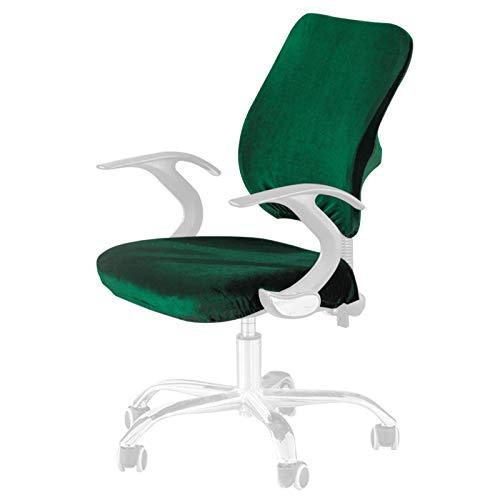 Funda para silla de oficina de ordenador, fundas de asiento de silla de color sólido, extraíble y lavable, giratoria, funda protectora y elástica universal para sillas