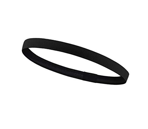 Haining Thick Non-Slip Elastic Sport Headbands Skinny Athletic Hair Bands for Men, Women, Boys & Girls - Silicone Grip Hairband & Mini Sweat Band for Soccer, Workout, Running, Exercise, Volleyball