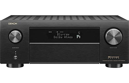 Denon AVR-X4500H 9.2CH High Power 4K Ultra HD AV Receiver Cutting Edge Home Theater with HEOS and Amazon Alexa Voice Control - Black (Renewed)