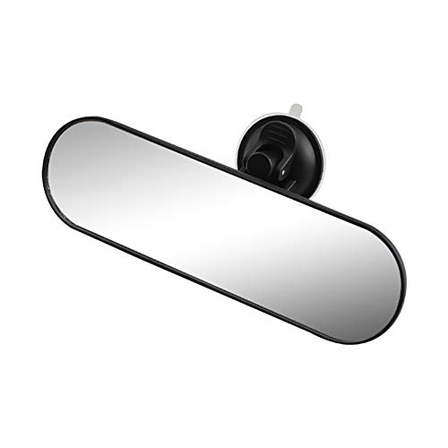 KKmoon Rear View Mirror, Universal Car Truck Mirror Interior RearView Mirror with Anti-flying Suction Cup, 220x65mm