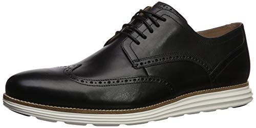 Cole Haan Men's Original Grand Shortwing Oxford Shoe, Black Leather/White, 11 Medium US