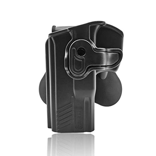 XSHION OWB Paddle Holster for Taurus PT800 Series Full-Size Autoloader Family (.45 ACP, PT809 9mm, PT840 .40 S&W & PT845.) Outside The Waistband Carry Holster with 360° Adjustable Cant -Left-Handed