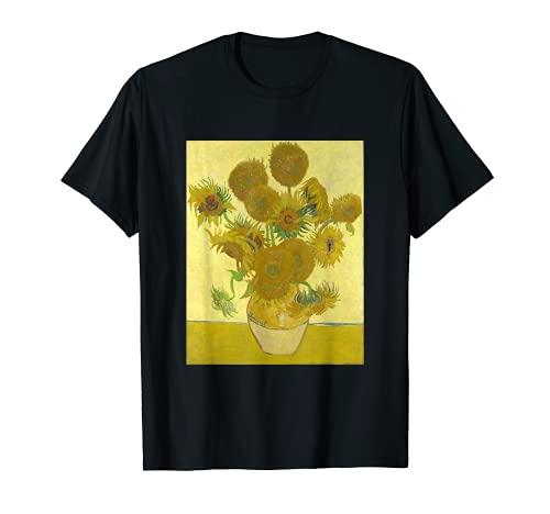 Vincent van Gogh Girasoli Arte Clasico Arte Moderno Cool Fun Maglietta