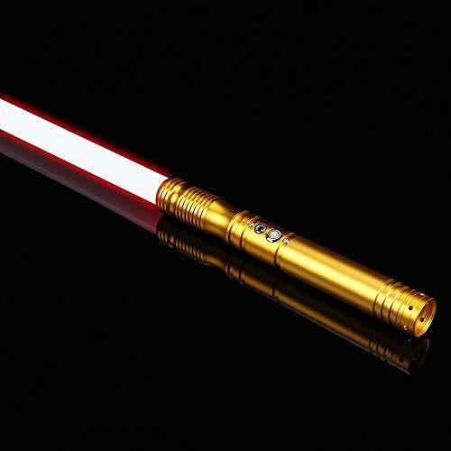 SABER-KING | Duell Lichtschwert Kraft FX | Star Wars | RGB Lightsaber Force FX | Jedi Lichtschwert | 12 Farbwechsel | 6 Soundfonds | Heavy Dueling FOC Metal Handle Lightsaber *VIDEO in Beschreibung*