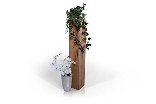moebel-eins Blumensäule Fichte massiv Dekosäule Holzsäule Säule Landhaus Design (eichefarbig, 19 x 19 cm | 100 cm)