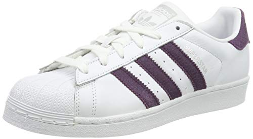 adidas Superstar W, Chaussures de Fitness Femme, Blanc (Ftwbla/Rojnoc/Plamet 0), 38 2/3 EU