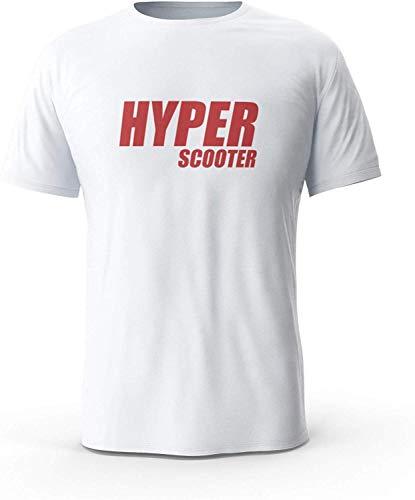 XCxBlAN Herren's Hyper Scooter - Scooter, Scoot Musterdruck Weiß XXX-Large