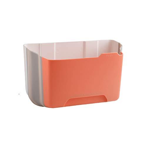 Cubos de Basura Basura de la pared de la pared pequeña de la cocina puede colgar la papelera para el hogar para la puerta del gabinete y debajo del lavamanos de la basura de los latas de lavado de 1.0